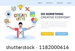 the concept of the creativity... | Shutterstock .eps vector #1182000616