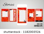 editable social media stories... | Shutterstock .eps vector #1182003526