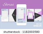 editable social media stories... | Shutterstock .eps vector #1182003580