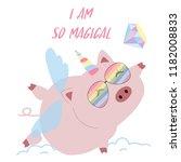 pastel pink hand drawn cute...   Shutterstock .eps vector #1182008833