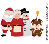 cute christmas characters | Shutterstock .eps vector #1182009340