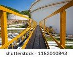 chemical industry walkway ... | Shutterstock . vector #1182010843