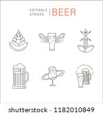 vector icon and logo beer and... | Shutterstock .eps vector #1182010849