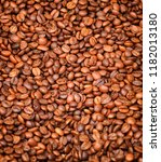 roasted coffee beans background | Shutterstock . vector #1182013180