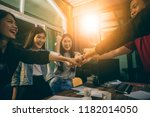 office life  happiness emotion... | Shutterstock . vector #1182014050