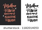 a mother is like a flower. each ... | Shutterstock .eps vector #1182014053
