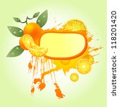 orange juice label | Shutterstock .eps vector #118201420