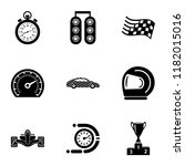 rally icons set. simple set of... | Shutterstock .eps vector #1182015016