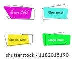 trendy banner flat design... | Shutterstock .eps vector #1182015190