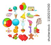 little ones icons set. cartoon... | Shutterstock .eps vector #1182015430