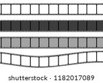 set of film strip frame  vector ... | Shutterstock .eps vector #1182017089