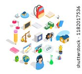 reactions icons set. isometric... | Shutterstock .eps vector #1182017536