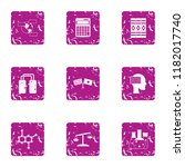 synthetic icons set. grunge set ...   Shutterstock .eps vector #1182017740