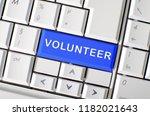 Word Volunteer Printed On A...