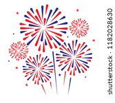 independence day firework on... | Shutterstock .eps vector #1182028630