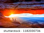 Sunrise At Mesa Arch  Utah Usa