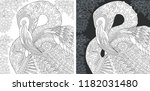 coloring page. coloring book....   Shutterstock .eps vector #1182031480