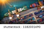 logistics and transportation of ...   Shutterstock . vector #1182031690