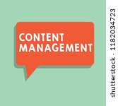 text sign showing content... | Shutterstock . vector #1182034723