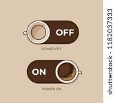 coffee concept. coffee and on... | Shutterstock .eps vector #1182037333