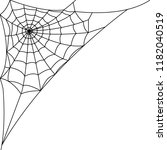 cobweb  spider web. poster in a ... | Shutterstock .eps vector #1182040519