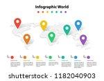 world map element  infographic  ...   Shutterstock .eps vector #1182040903