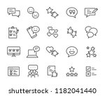 set of feedback line icons ... | Shutterstock .eps vector #1182041440
