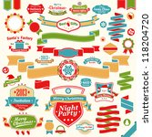 christmas set   colorful... | Shutterstock .eps vector #118204720