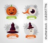 happy halloween day | Shutterstock .eps vector #1182057796