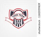 patriotic badge logo template | Shutterstock .eps vector #1182059839