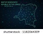map democratic republic of the... | Shutterstock .eps vector #1182064309