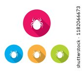 spider icons with long shadow | Shutterstock .eps vector #1182066673