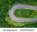 aerial mountain road hairpin... | Shutterstock . vector #1182070423