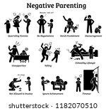 negative parenting child... | Shutterstock .eps vector #1182070510