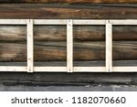 wooden wall  timbered laying ... | Shutterstock . vector #1182070660