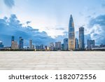 shenzhen city skyline night... | Shutterstock . vector #1182072556