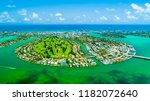 aerial view of miami beach ... | Shutterstock . vector #1182072640