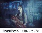 legend of  mae nak phra khanong.... | Shutterstock . vector #1182075070