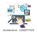 concept of financial investment ... | Shutterstock .eps vector #1182077419