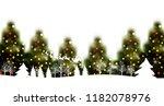 christmas fir tree winter... | Shutterstock .eps vector #1182078976
