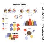 education data visualisation... | Shutterstock .eps vector #1182081970