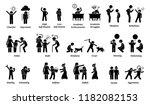 child characteristics ... | Shutterstock . vector #1182082153