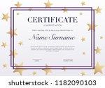 certificate template with... | Shutterstock .eps vector #1182090103