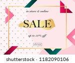 sale banner. poster  flyer ... | Shutterstock .eps vector #1182090106
