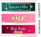 set of sale banners design ... | Shutterstock .eps vector #1182090109