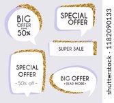 collection of golden premium... | Shutterstock .eps vector #1182090133