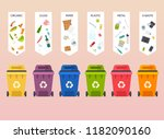recycle infographic. waste... | Shutterstock .eps vector #1182090160
