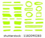 hand drawn shapes and lines.... | Shutterstock .eps vector #1182090283