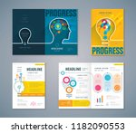 cover book design set  color... | Shutterstock .eps vector #1182090553