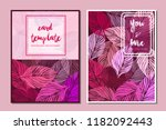 card template design pink... | Shutterstock .eps vector #1182092443